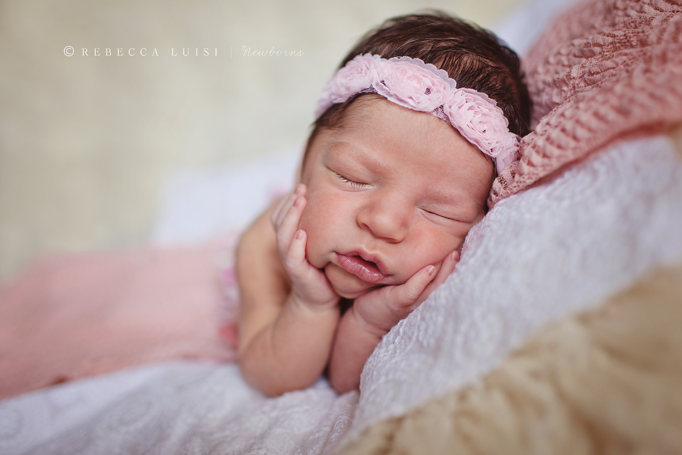 Newborn Baby Girl Dark Hair Baby With Dark Brown H...